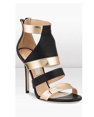 900e7a4ba 2018 Hot Summer Gladiator Brand Zip Stiletto Heel Sandalias Sexy ...