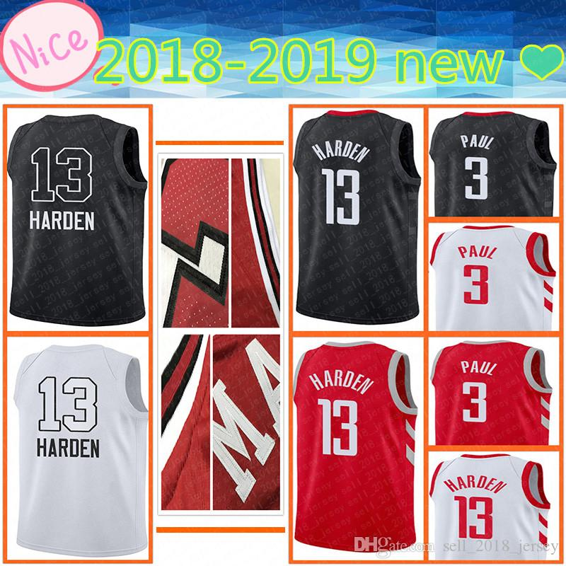 4b5bbb82486d ... sweden 2018 2018 2019 new houston mens adult 13 james harden jersey 3  chris paul 7