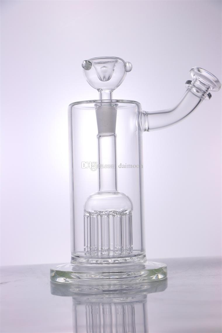 New Arrival 8 inches Heady Glass Bong 10 Arms for PERC 14mm joint size for Trending bongs Water pipe glass bowl