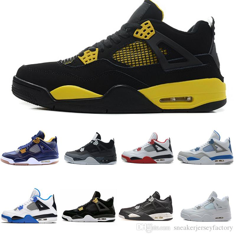 61d56d2fc60 2018 4s Classic 4 Alternate Motorsports White Cement Pure Money Royalty  Military Blue Bred Thunder Black Cat Oreo Sneakers For Men Women From ...