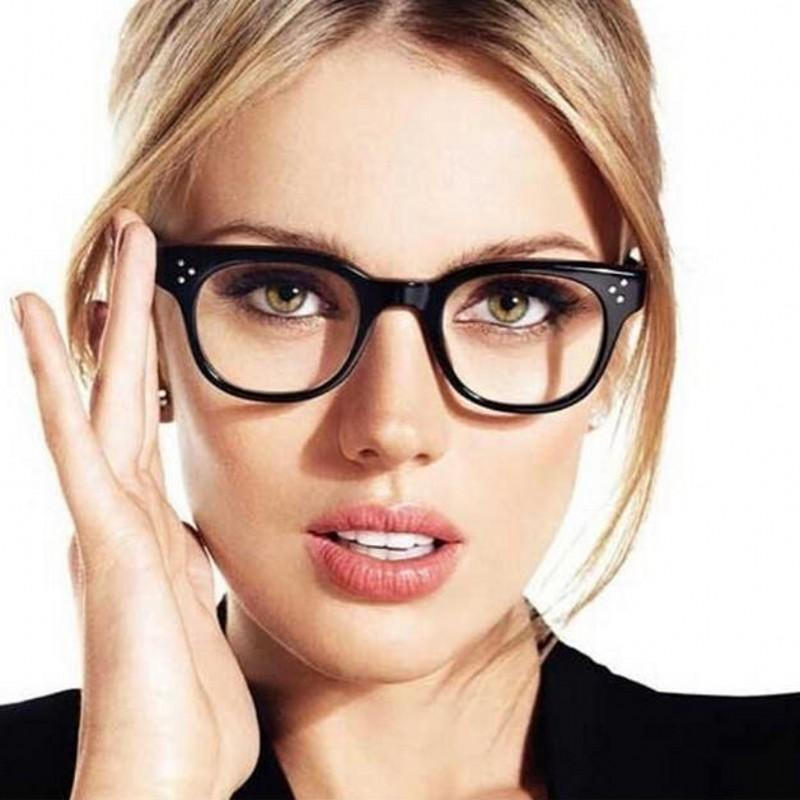7d778b4e6dc 2019 2018 Fashion Women Clear Lens Eyewear New Luxury Brand Designer Men Women  Eyeglasses Rivet Frames Women S Glasses Oculos Shades From Harrieta