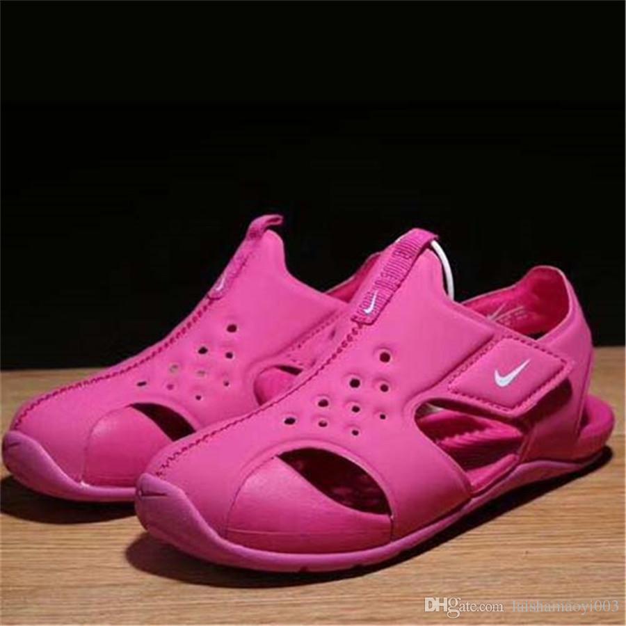 741d99f704743 Acheter Enfants D été Sandales Nouveau Designer Enfants Appartements  Respirant Anti Glissant Garçons Filles Fermé Toe Slippers Sandalias Mode  Chaussures De ...