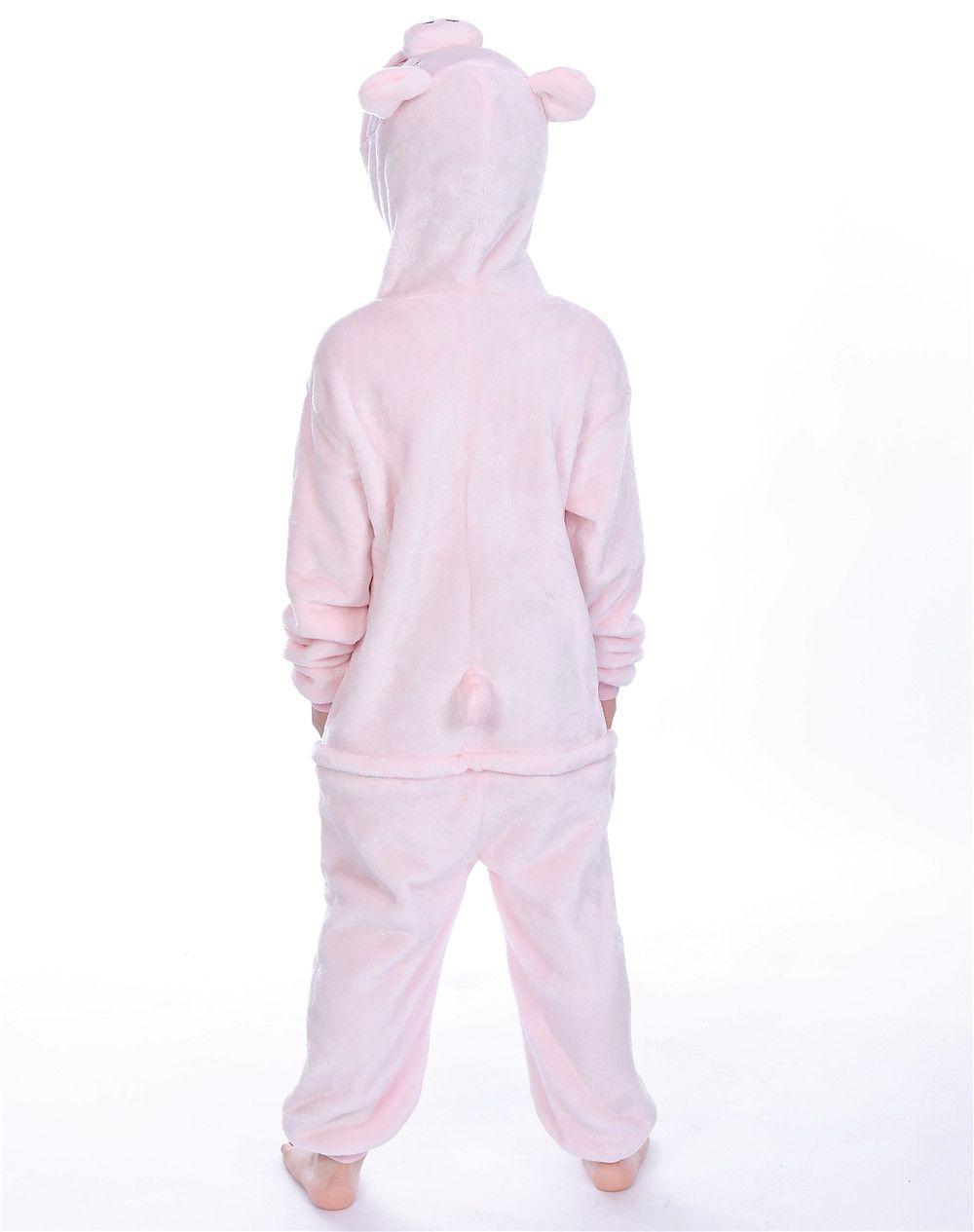 Winter Pajamas for kids Flannel Baby Boy Cartoon Pink Pig Animal Onesie Sleepwear School Party Cosplay MX-024
