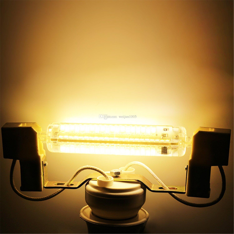 Переключение выключатель затемнения R7s модифицированная 12W 1000-1100lm Сид R7s вело свет мозоли Сид R7s диммирования smd5730 Сид декоративный свет AC220-240В DHL бесплатная доставка плата