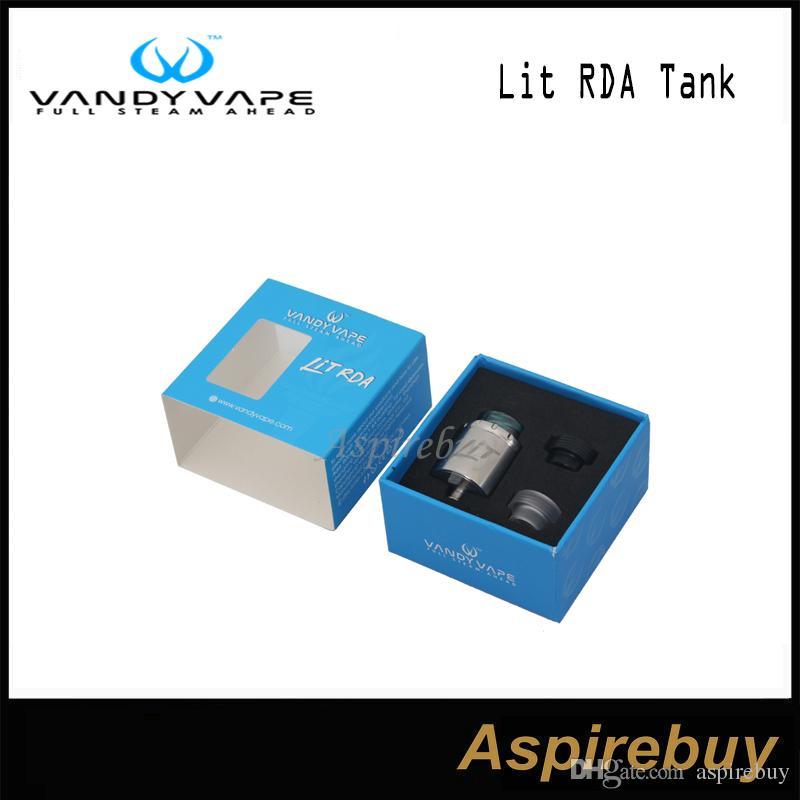 VandyVape Lit RDA tanque Tornillo para cambiar el tipo de flujo de aire de diapositivas base de flujo de aire Sistema multifunción durante 3 maneras de construir bobinas Cabeza original del 100%