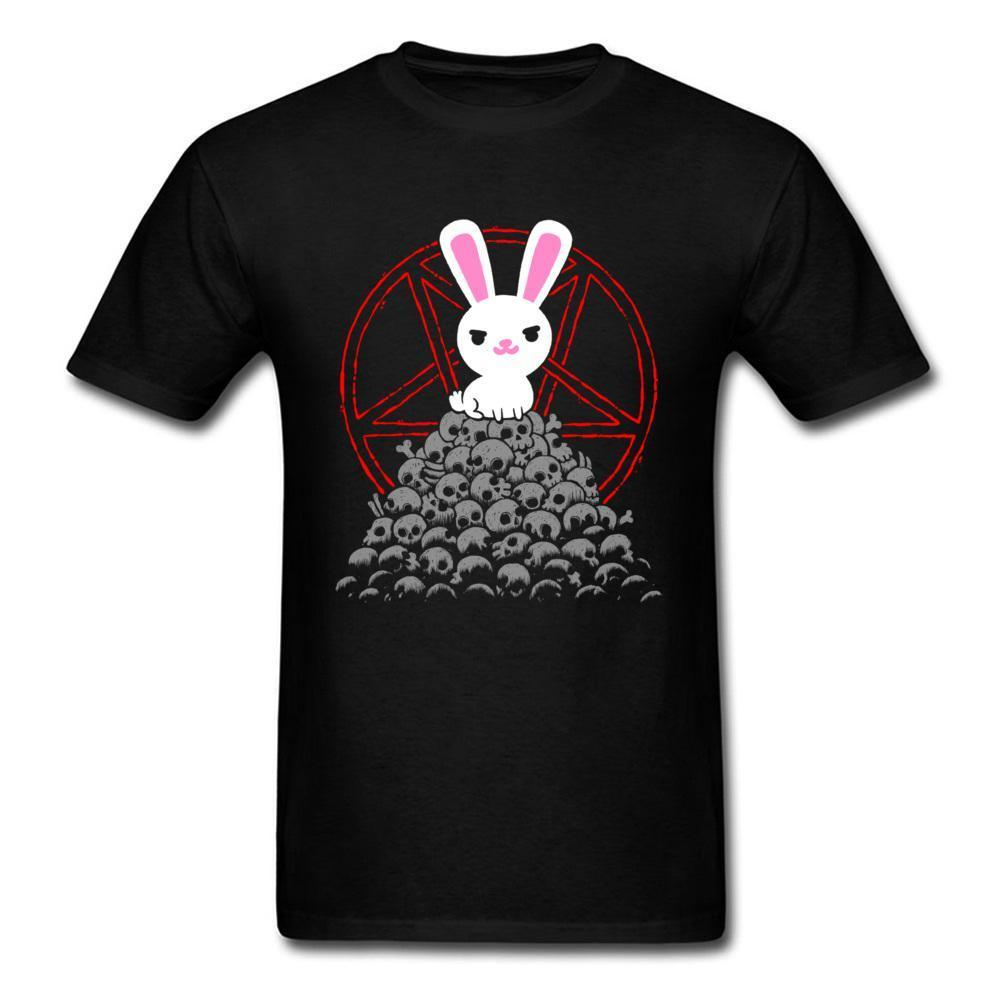 Cute Killer T Shirt Men White Rabbit T Shirt Skulls Tee Black Butler Logo Tops Bunny Cartoon Tshirt Cotton Clothing
