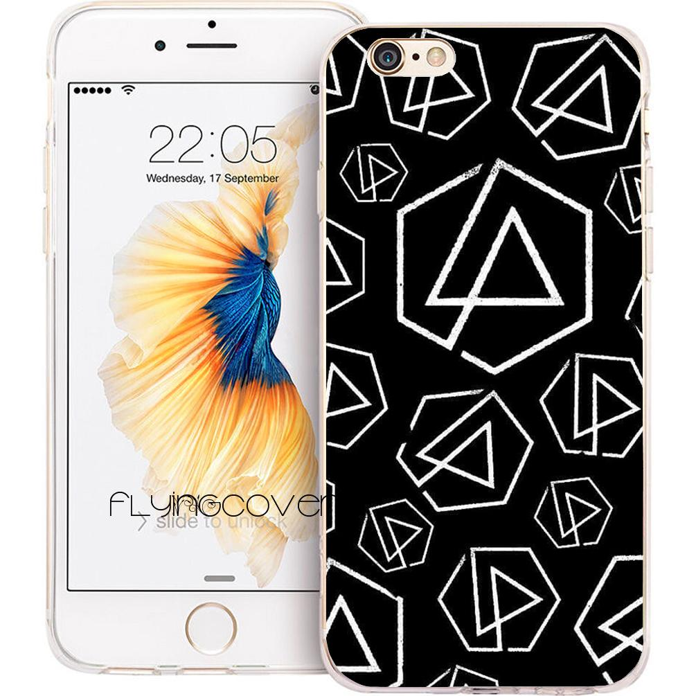 3b16d391ffc Fundas Moviles Estuches Para Teléfono Black Linkin Park Para IPhone 10 X 7  8 Plus 5S 5 SE 6 6S Plus 5C 4S 4 IPod Touch 6 5 Funda De Silicona TPU ...