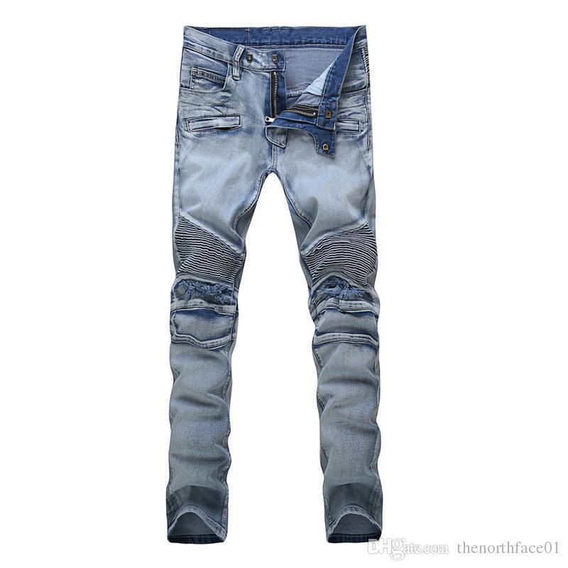 4dcb7321d8f 2019 Balmain Mens Jeans Men Designer Jeans Distressed Motorcycle Biker  Jeans Sizes 29 42 Rock Revival Skinny Slim Ripped Straight Denim Pants From  ...