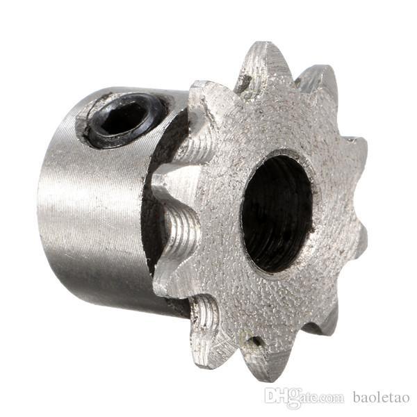 Pignon d'entraînement de chaîne de rouleau de moteur d'engrenage en métal de 10 dents de 8mm