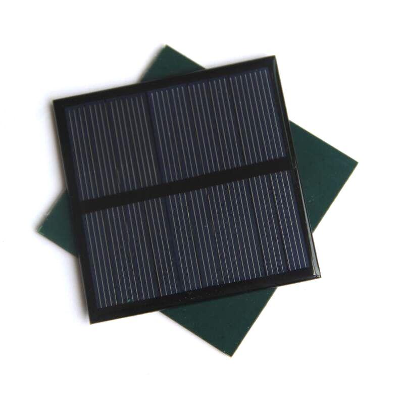 BUHESHUI 0.7W 5V 미니 태양 전지 패널 다결정 태양 전지 작은 전원 3.7V 배터리 충전기 DIY 장난감 패널 연구 70 * 70MM