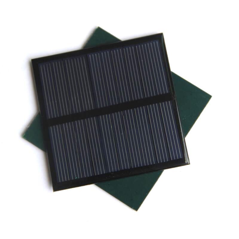 BUHESHUI 0.7W 5V Mini Solar Panel Polycrystalline Solar Cell Small Power 3.7V Battery Charger Light DIY Toy Panel Study 70*70MM
