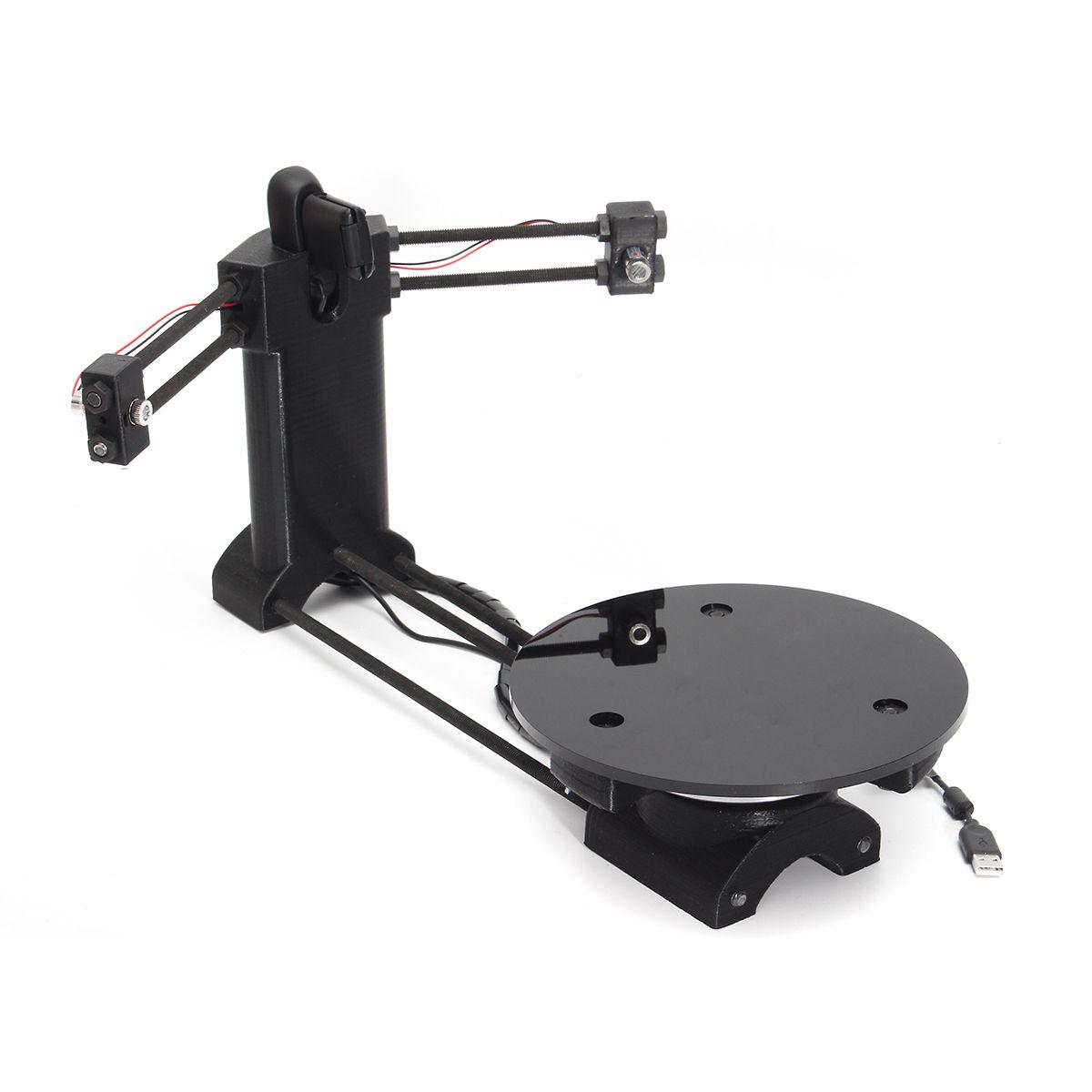 3D Open source DIY 3D scanner kit ,advanced laser scanner black plastic  injection molding parts
