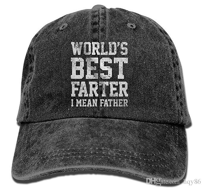 9709678fd8c Baseball Cap For Men Women,Worlds Best Farter Vintage Adjustable Cowboy Cap  Baseball Cap For Man And Woman Multi Color Optional Caps Hats Fitted Cap  From ...