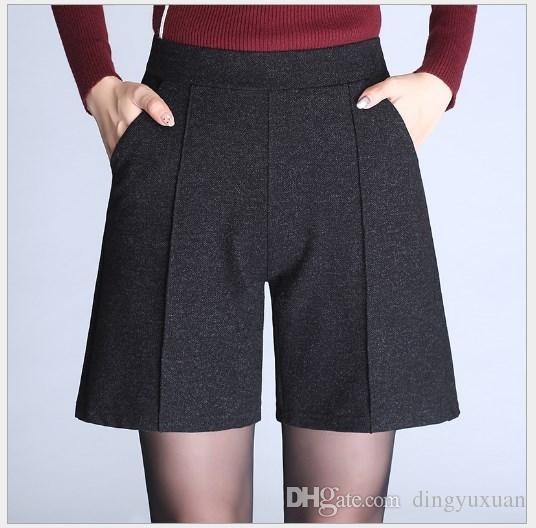 33a2ddb96 2019 Korean Fashion Womans High Waist Shorts Women Plus Size Black Shorts  Pants Plus Size 5XL 6XL 7XL 9XL Bermuda Feminina From Dingyuxuan