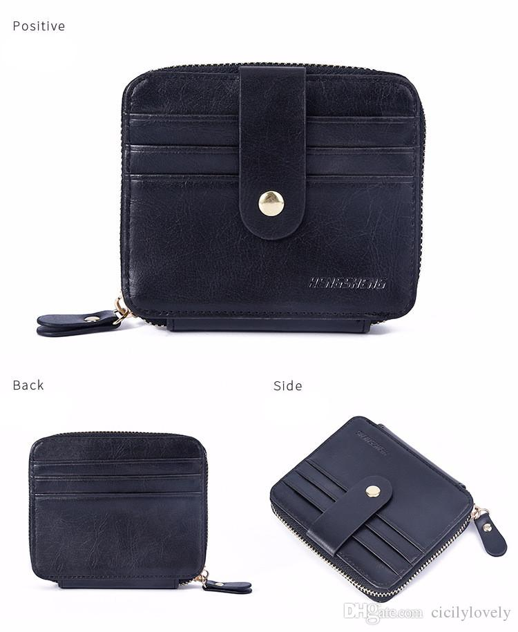 2018 New designer Tote wallet High Quality Leather luxury Men short Wallets for women Men Coin purse Clutch Bags purse free shippings