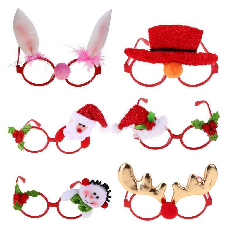 Frohe Weihnachten Rahmen.Frohe Weihnachten Rahmen Brille Neuheit Weihnachtsmann Brille Kostüm Weihnachtsschmuck Für Zuhause Natal Noel New Year Dekoration Y18102609
