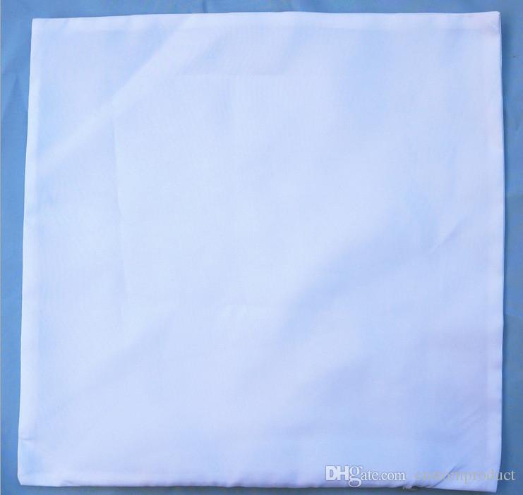 Sublimação em branco pele de pêssego fronha impressão de transferência quente em branco branco flanela pêssego fronhas consumíveis 40 * 40 CM 45 * 45 CM