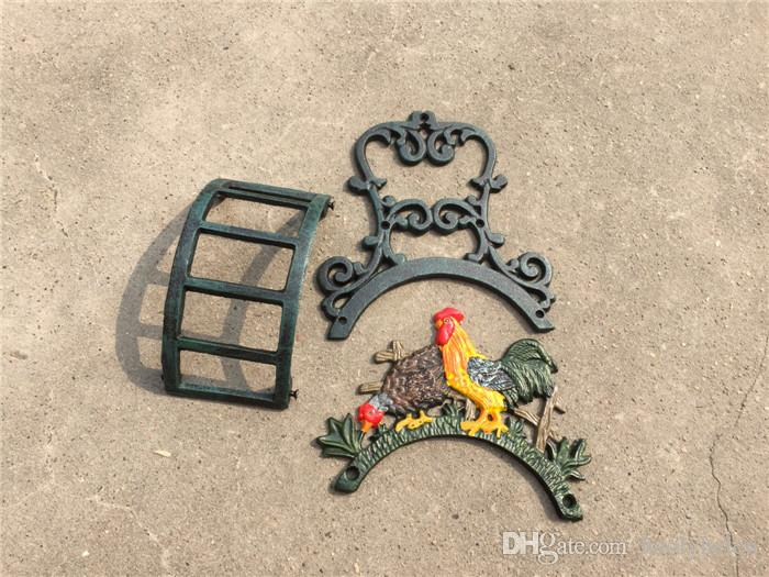 Rooster Cock Hose Holder Equipment Wall Mounted Cast Iron Rope Pipe Hanger Rack Stand Organizer Garden Courtyard Yard Villa Chicken Cocker Decor Vintage Country