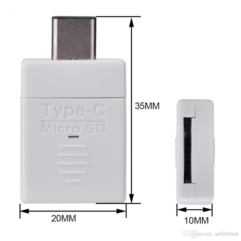 High Speed USB 3.1 Type-C USB OTG Micro SD / TF Memory Card Reader for Macbook / Android Universal