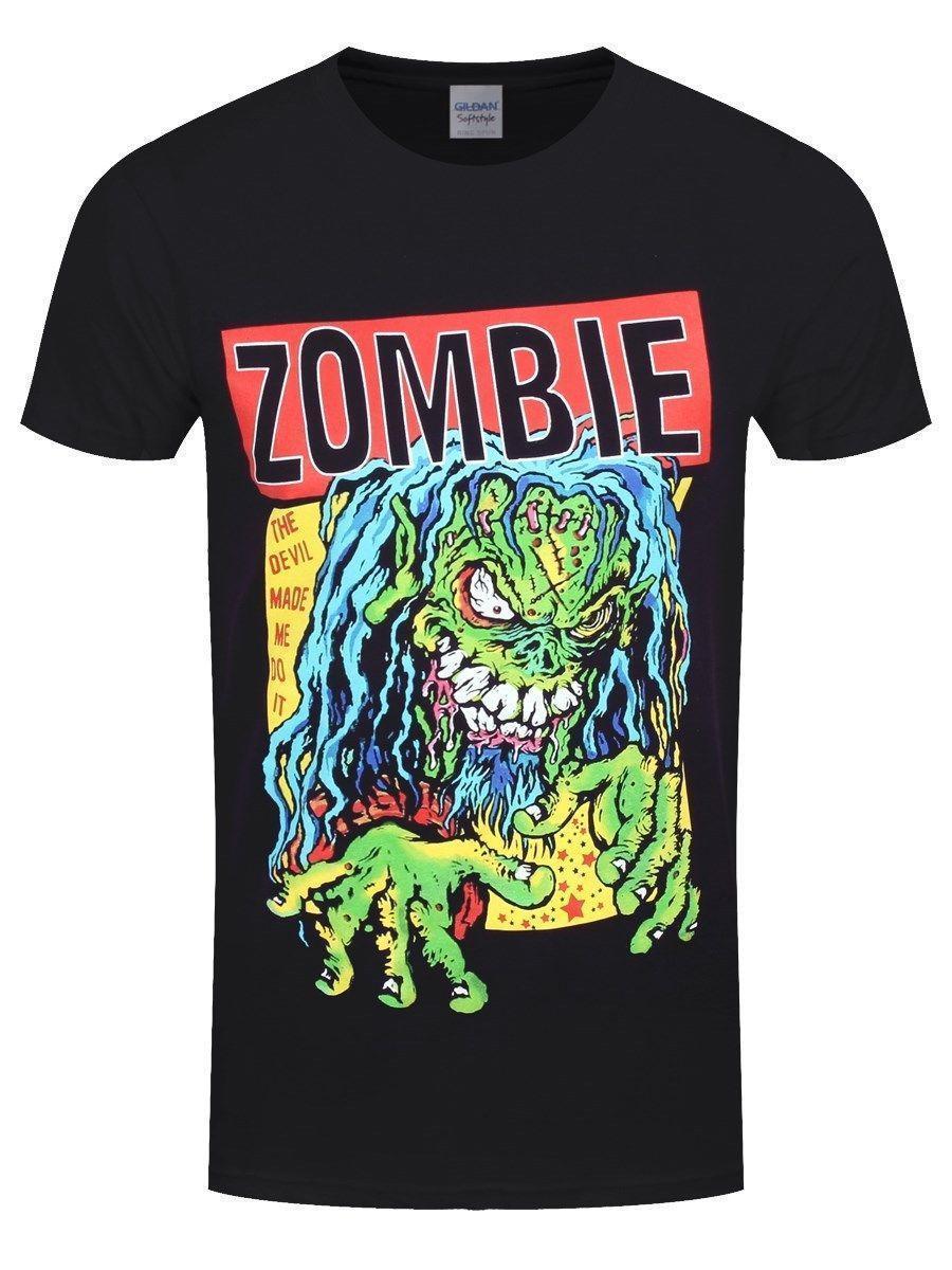 db181e702 Rob Zombie Devil Made Me Do It Men'S Black T Shirt Rude Tshirts Offensive  Tee Shirts From Lijian049, $12.08  DHgate.Com