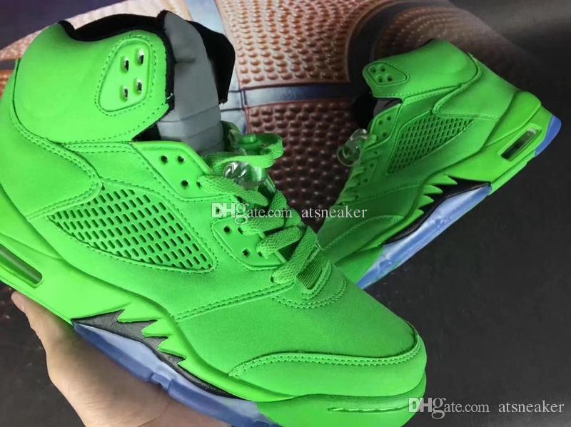 dae139e71c4e43 Mens High Quality 5 Green Suede Basketball Shoes For Sale Basketballs Shoes  Mens From Atsneaker