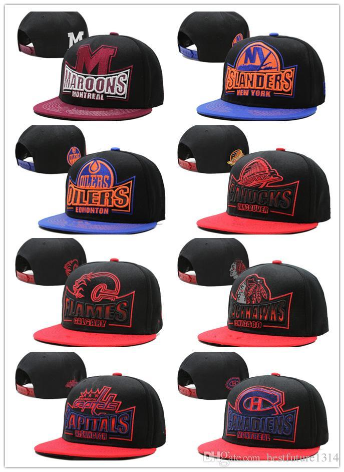 2019 2018 Wholesale Price NHL Mighty Hockey Snapback Hats Anaheim Ducks  Bone Cap Flat Fashion Nhl Hats Sports Cheap Mens   Women Baseball Caps From  ... 0f57e4096c6