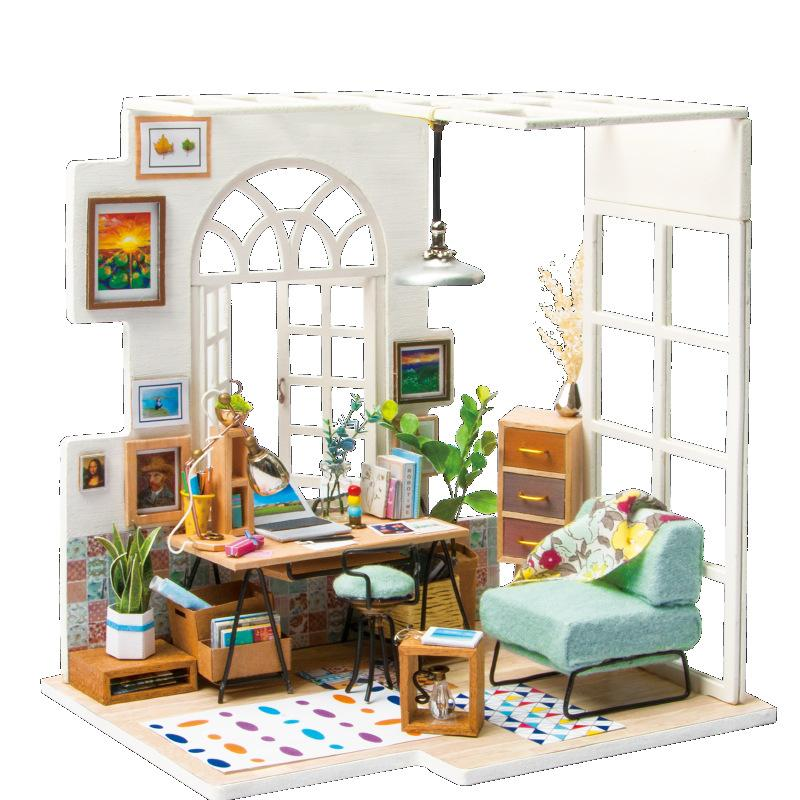 Superior Diy Doll House Miniature Dollhouse With Furnitures Wooden House Miniaturas  Toys For Children New Year Christmas Gift Dgm Doll Houses Wooden Cheap  Dollhouse ...