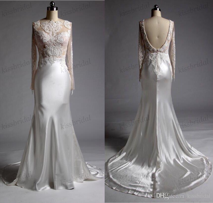 Magic Show Sample 2018 Lace Wedding Dresses Real Photos Beading Long ...
