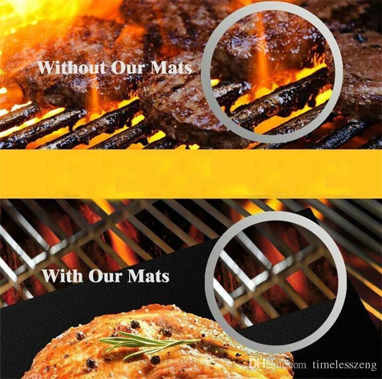 Yapışmaz BARBEKÜ Izgara Mat Isıya Dayanıklı Barbekü Pişirme Gömlekleri Yeniden Kullanılabilir 40 * 30 cm Piknik Yemek Yapan Sayfalar
