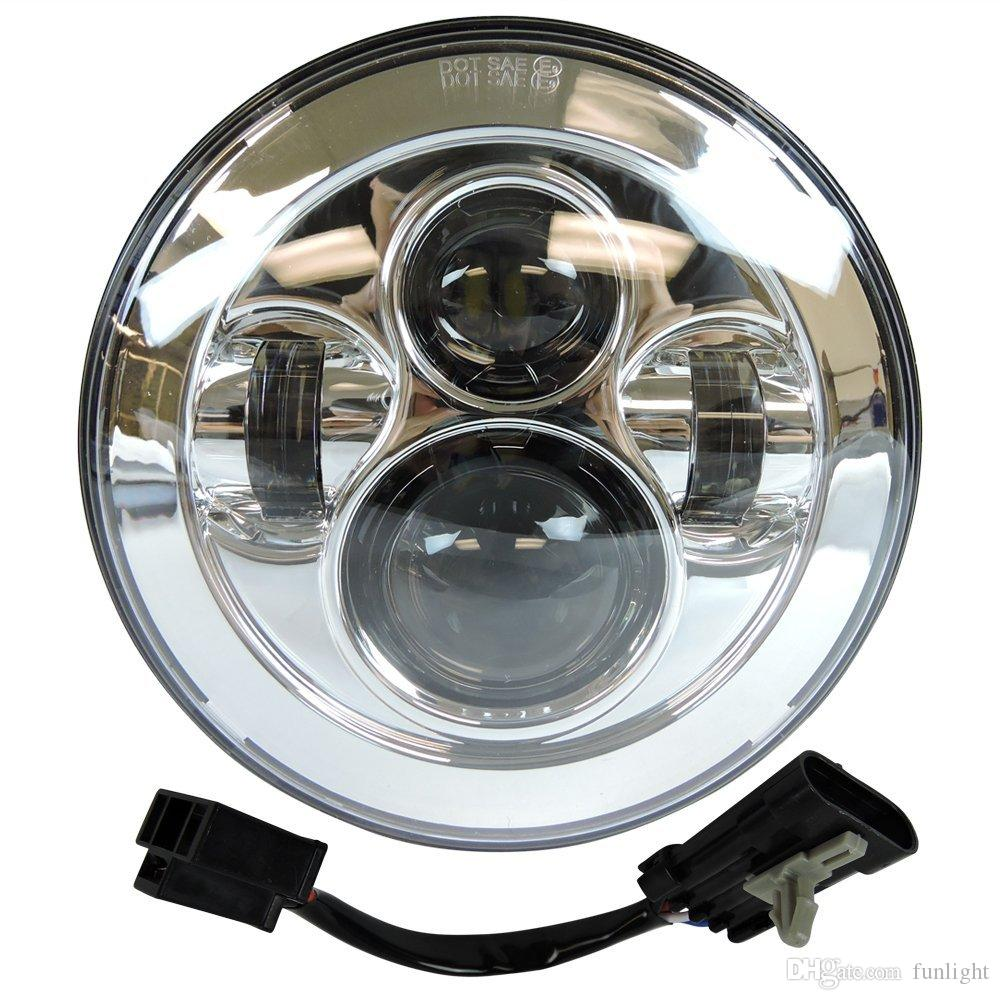 2018 7 Led Chrome Round Daymaker Projector Headlight Harley Street Harley Wire Harness Chrome on harley swingarm, harley wheel, harley battery, harley throttle cable, harley ignition, harley clutch, harley front brake caliper, harley motor, harley tools, harley wiring diagram, harley speedometer, harley radio, harley coil, harley cover, harley tires, harley pin, harley voltage regulator, harley spark plugs, harley rear brake caliper, harley headlight,