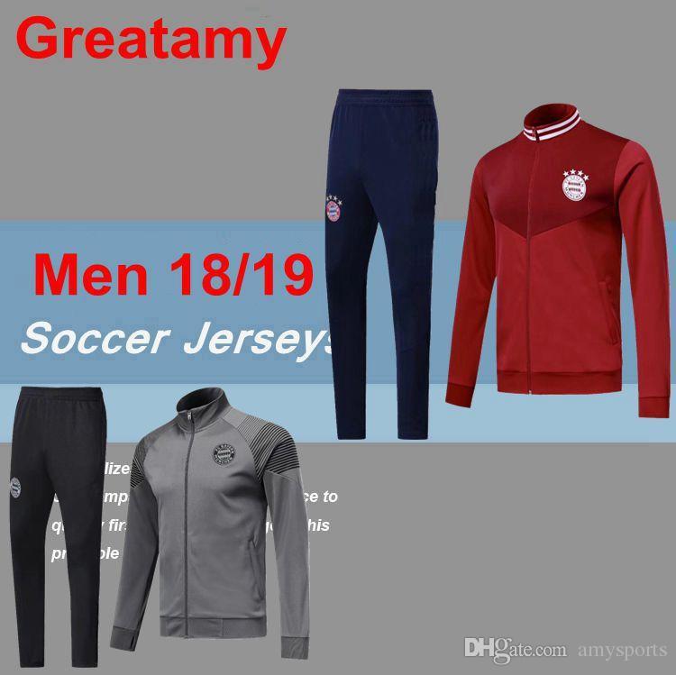 Top Quality Bayern Soccer Jacket 2018 2019 LEWANDOWSKI Jackets Kits ... 1650501050c34