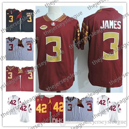 quality design e0986 098fd Florida State Seminoles #3 Derwin James Dylan Cantrell USC 42 Justin  Jackson Navy Blue Red White Stitched NCAA College Football Jerseys
