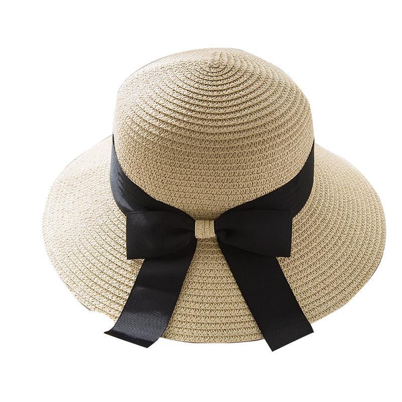 Compre Sombrero De Sol Plano Verano Mujeres Moda Casual Europea Bowknot  Straw Borde Ancho Beach Cap Panana Moda Suave Sunhat A  29.13 Del Gocan  663d7225282