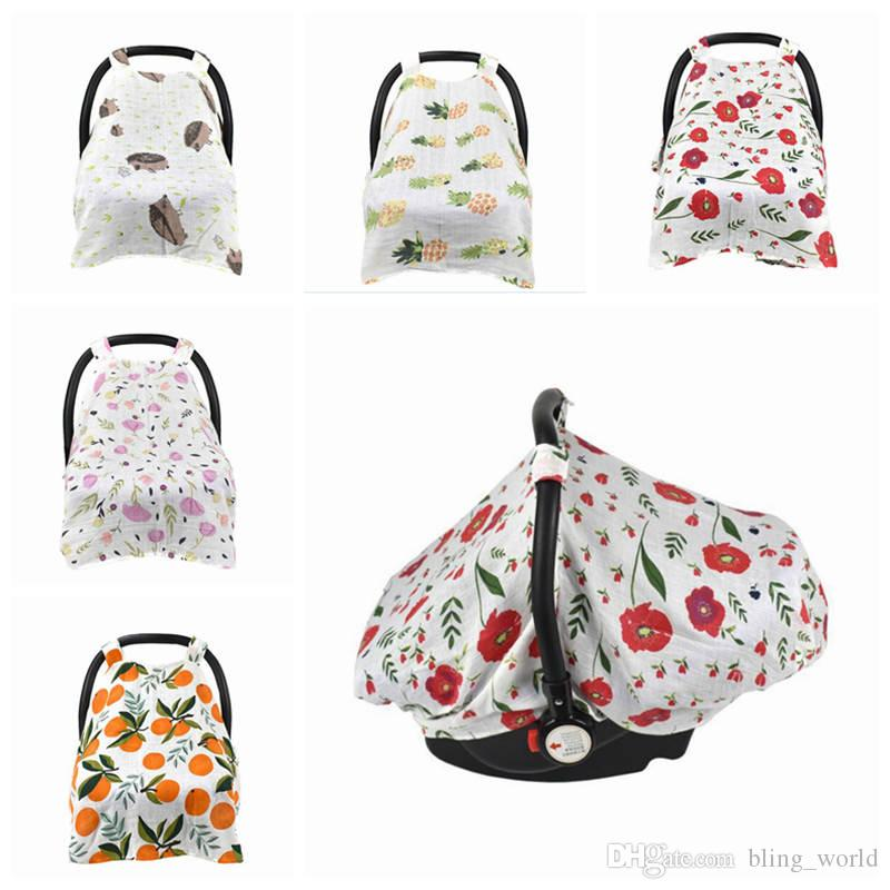 2018 Baby Stroller Nursing Buggy Cover Soft Muslin Cotton Car Seat Canopy Pram Breastfeeding Blanket YL123 From