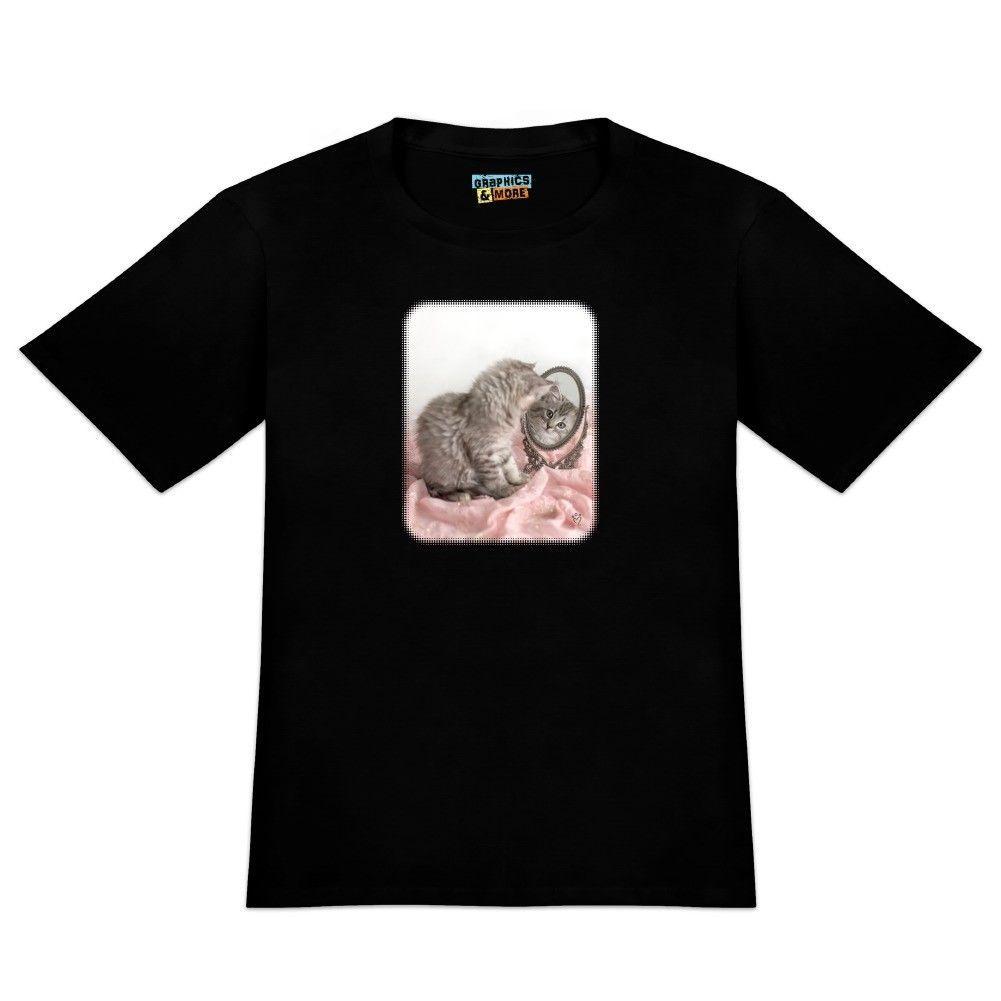 51395eda Siberian Cat Kitten Mirror Fairest Of Them All Men'S Novelty T Shirt  Personalized T Shirt T Shirt Logos From Funnytees45, $11.58  DHgate.Com