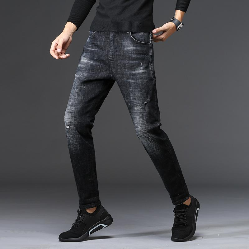 0cbc4059fe2eb Satın Al UMMEWALO Siyah Skinny Jeans Erkekler Kış Sonbahar Streç Denim Kot  Adam Elastik Rahat Ince Jean Pantolon Erkek Kaliteli Kot Homme, $30.36 |  DHgate.