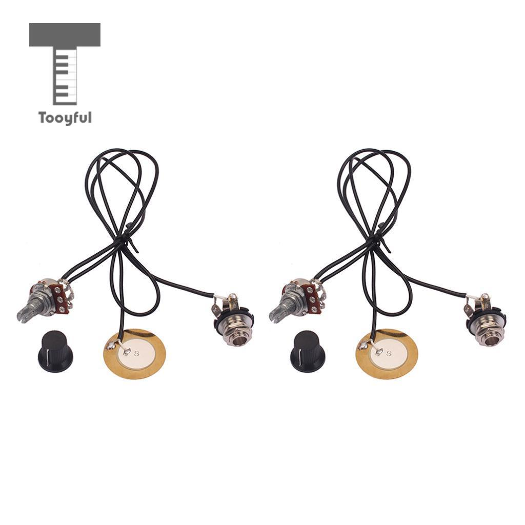 2018 Tooyful Prewired Piezo Pickup Transducer With Volume Control Details About Electric Guitar Wiring Harness Knob For Box Mandolin Banjo From Frank13 3721