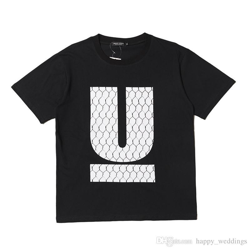 2018ss UNDERCOVER Big U Print Women Men T shirts tees Hiphop Streetwear Men Cotton T shirt Outwear