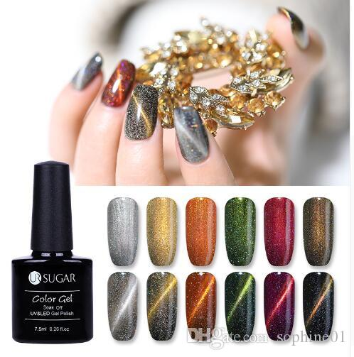 Holographic Glitter Magnetic Gel Magnet Cat Eye Laser Nails Gel Polish Soak  Off UV LED Varnish Nail Art Lacquer 7.5ml Gel Nail Extensions Gel Nail  Ideas ... c69e818c9768