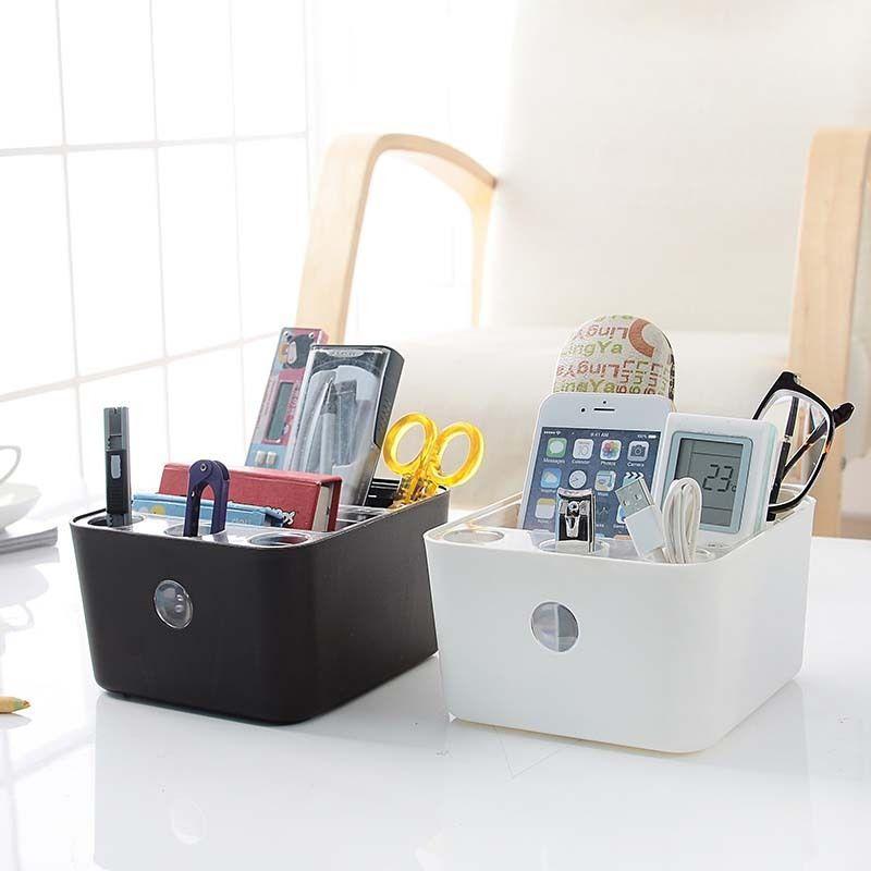 Kleine Größe Aufbewahrungsboxen Badezimmer Büro Tisch Veranstalter Stift  Bleistift Box Briefpapier Halter Lagerung Schwarz Kleinigkeiten Box ...