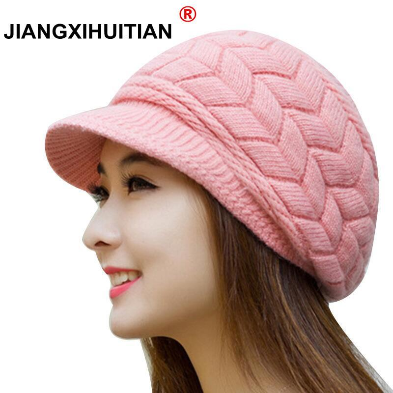 2019 Winter Beanies Knit Women S Hat Winter Hats For Women Ladies Beanie  Girls Skullies Caps Bonnet Femme Snapback Wool Warm Hat 2018 From Xiacao 7bbf1cb5504