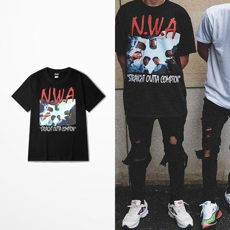 4e2dba5e6d7c9 Rush Out Compton T Shirt Nwa Straight Out Compton Memory Hip Hop Men ...