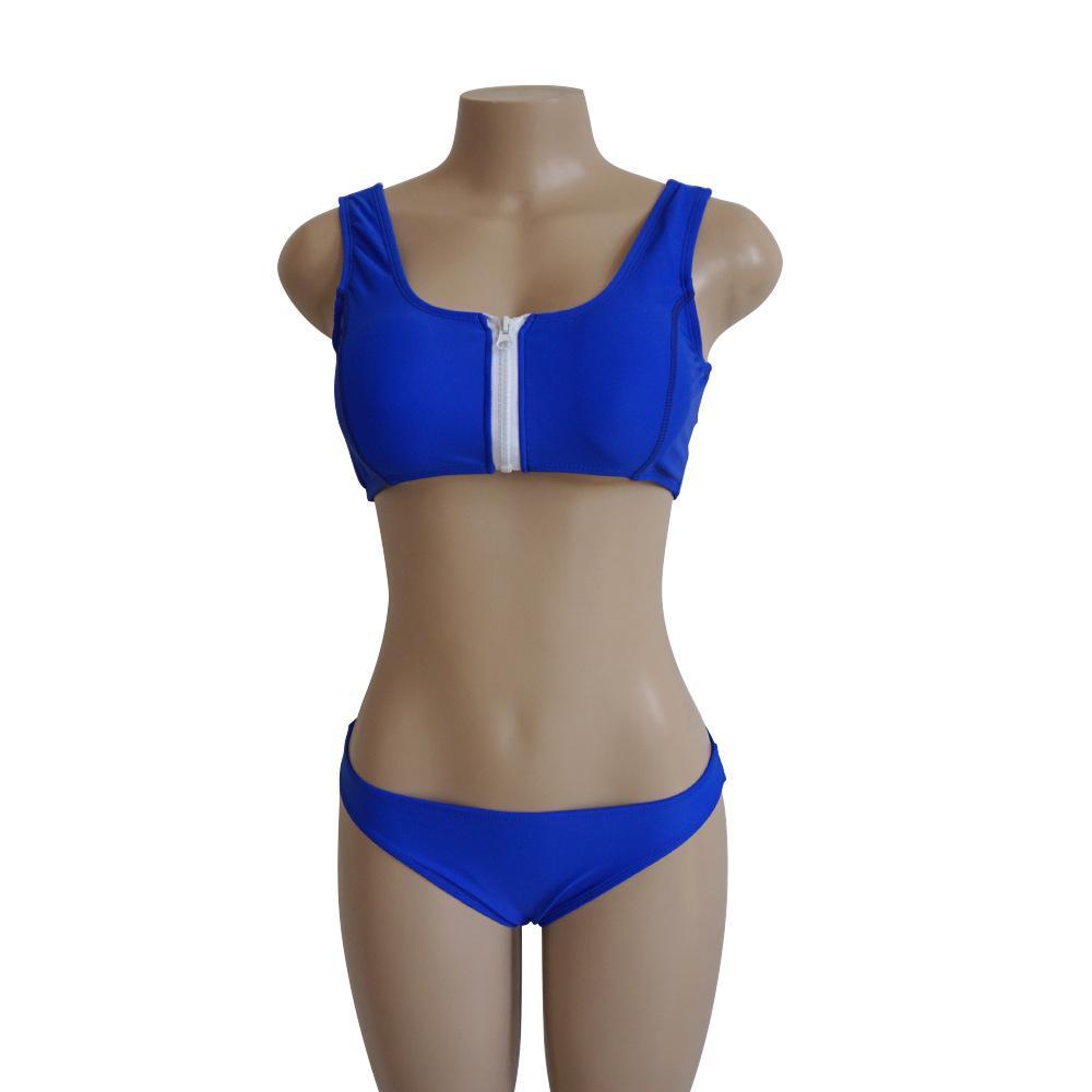 Bikini traje de baño traje de baño más mujeres empujan hacia arriba traje de baño Bikini sólido juego ropa de playa 2018 mujer con traje de baño Pad