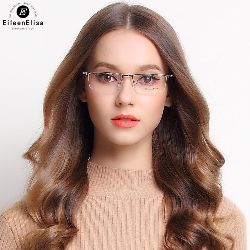 Compre EE New Titanium Óculos Frames Moda Metade Sem Aro Óculos De Titânio  Dos Homens Óculos De Armação Óptica Oculos De Grau De Value333, ... ed91a3326c