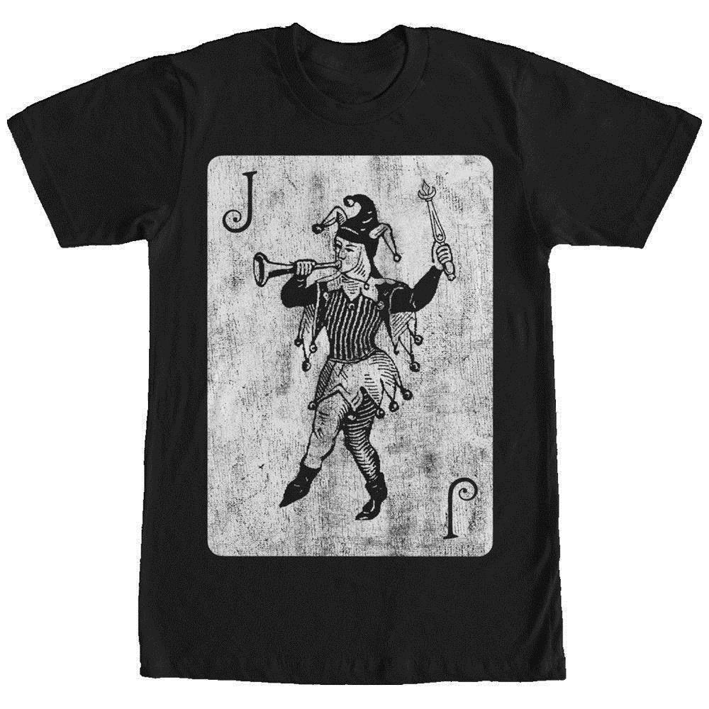 Lost Gods Joker Card Mens Graphic T Shirt Custom T Shirts Funny Cool