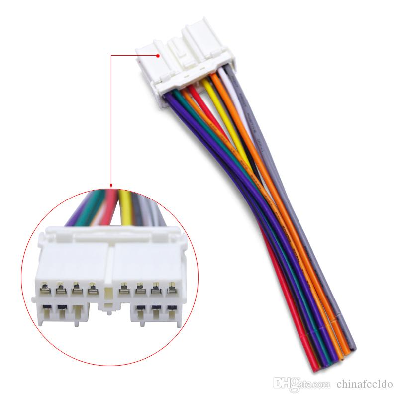 2018 Car Stereo Audio Radio Cdplaery Wiring Harness Adapter Plug For Mitsubishi Grandpajero Lioncel Joyear Wire Cable 3998 From Chinafeeldo: Audio Wiring Harness Adapter At Gundyle.co