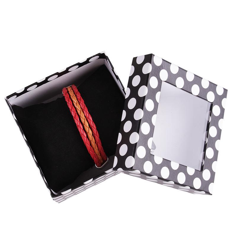 high quality dot jewelry packing box For Bracelet ABS Necklace Watches Jewelry Boxes 9*6cm