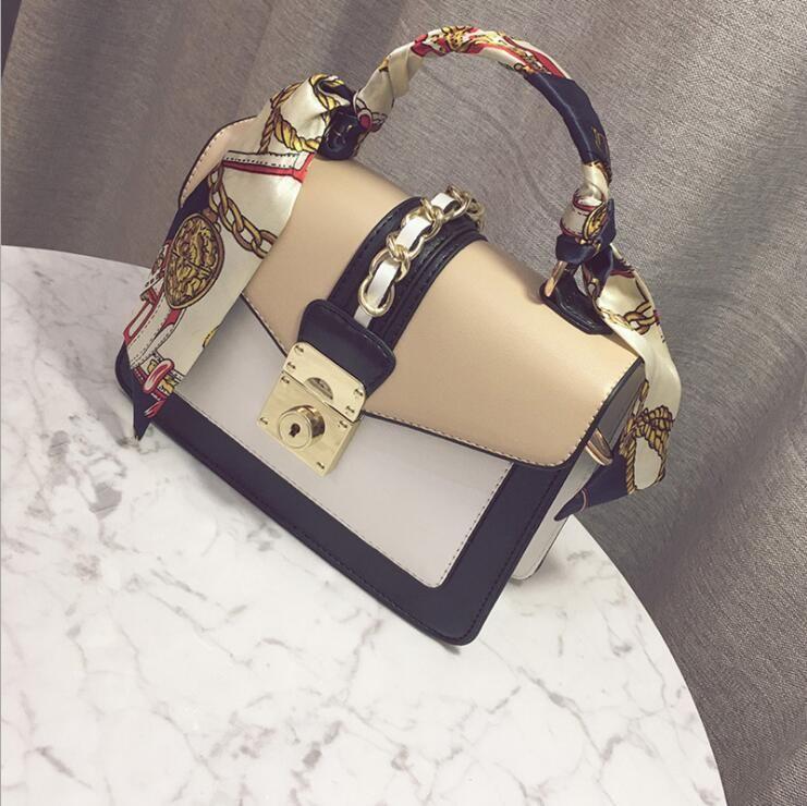 b4cd658ff8 Brand Shoulder Handbags Ladies Gold Chain Bag Purse Designer Tote Satchels  Messenger Small Bucket Flap Silk Scarf Baobao Handbag Brands Cheap Bags  From ...