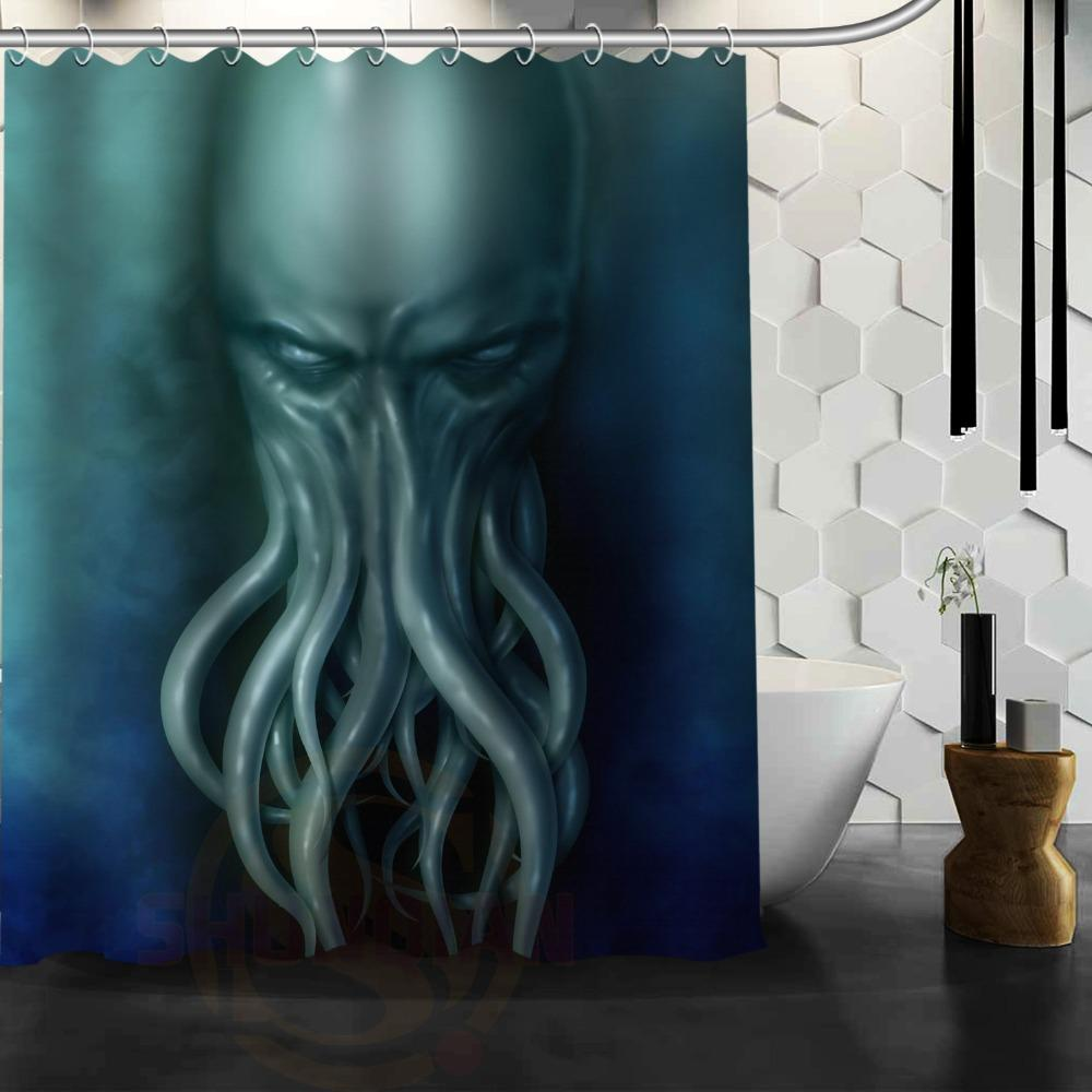 2018 Cthulhu Monster Octopus Customize Shower Curtain Bath Accessories Personalized Waterproof Bathroom Curtains From Caley 5487