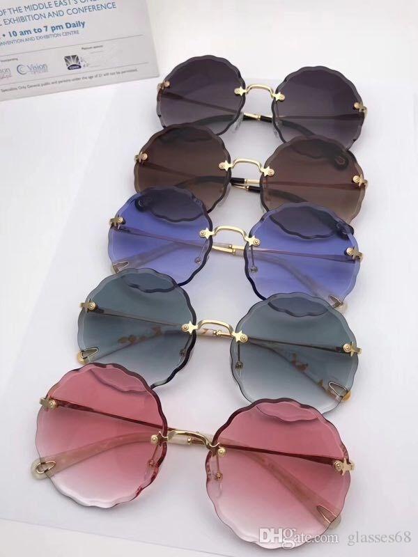 5408e6b445e CE142S Hot Sale Fashion Brand Designer Women Polarized Sunglasses Rimless  Sun Glasses Round Frame Polarizing Lens With Box Sunglasses For Women Cat  Eye ...